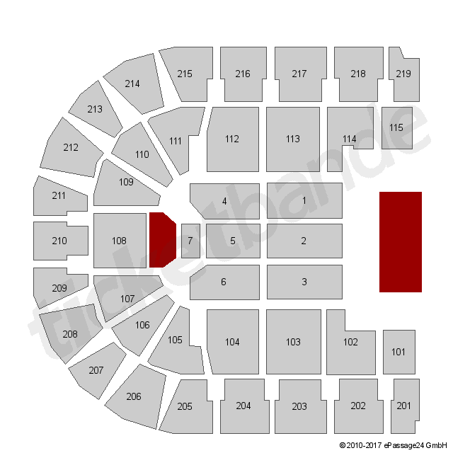 Sitzplätze oberhausen arena arena oberhausen