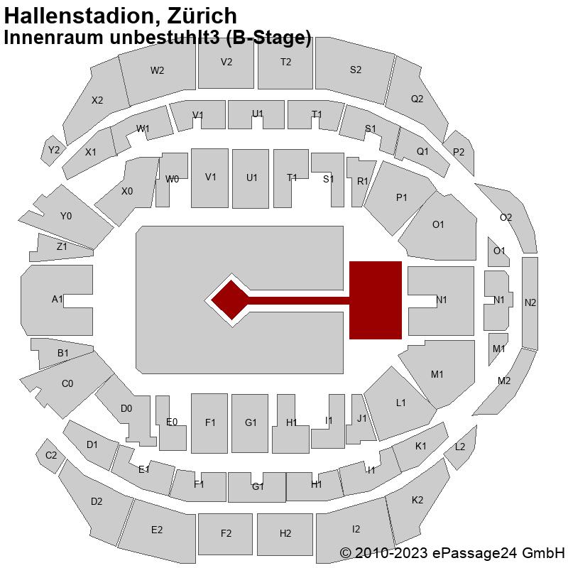 Saalplan Hallenstadion, Zürich, Schweiz, Innenraum unbestuhlt3 (B-Stage)