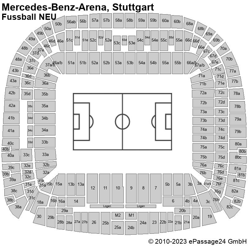 Mercedes-Benz-Arena Stuttgart Fußball Saalplan