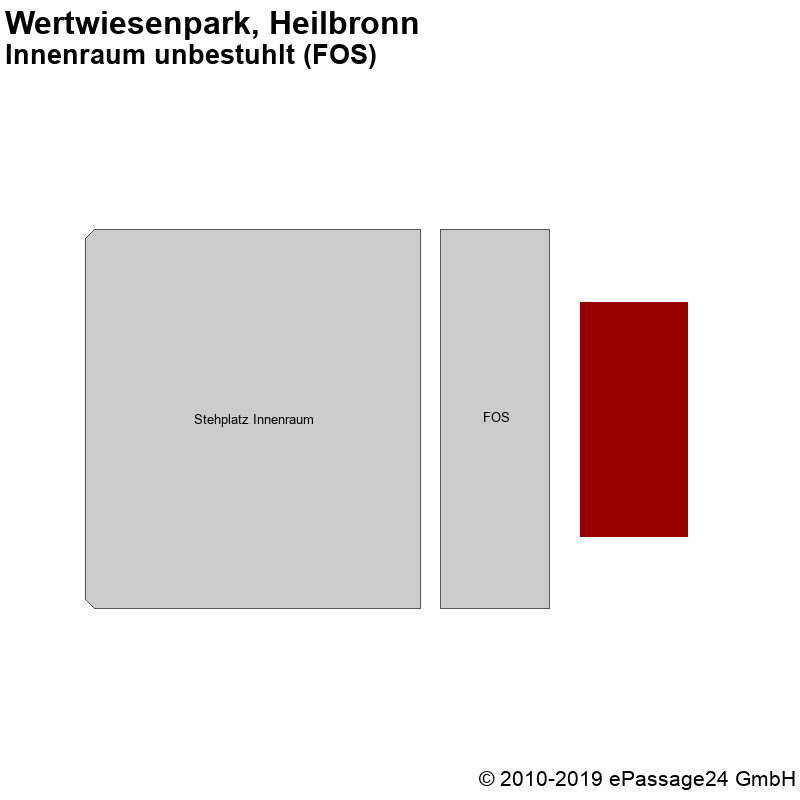 Saalplan Wertwiesenpark, Heilbronn, Deutschland, Innenraum unbestuhlt (FOS)