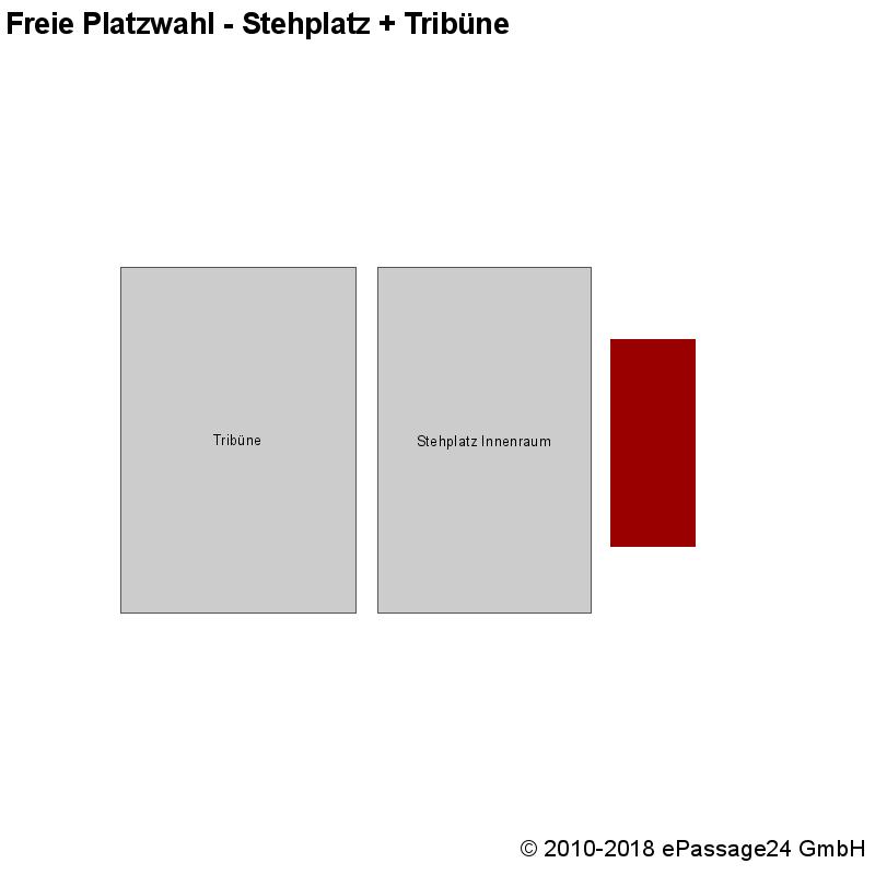 Saalplan , , , Freie Platzwahl - Stehplatz + Tribüne