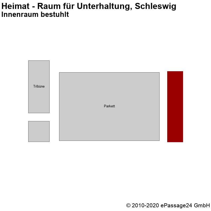 Saalplan Heimat - Raum für Unterhaltung, Schleswig, Deutschland, Innenraum bestuhlt