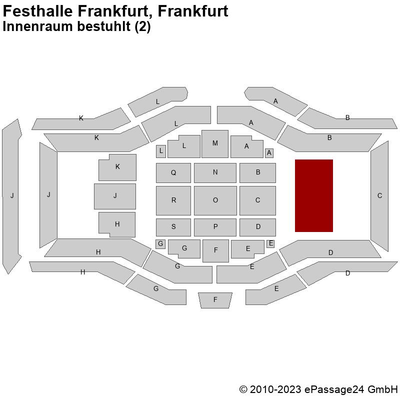 Saalplan Festhalle Frankfurt, Frankfurt, Deutschland, Innenraum bestuhlt (2)