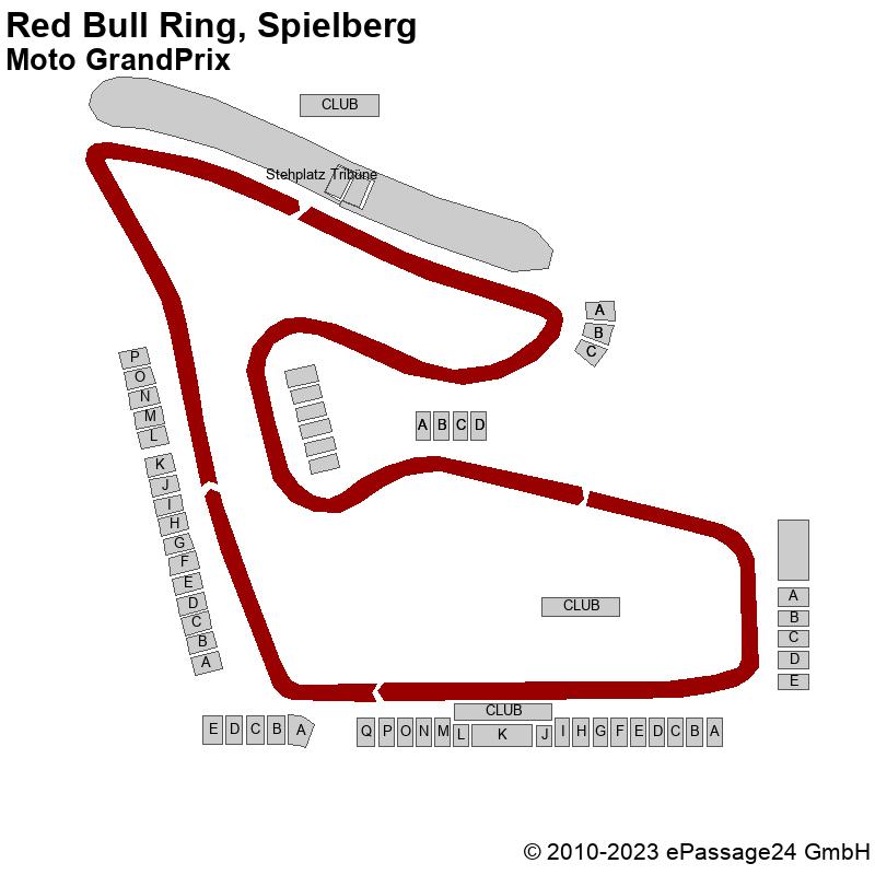 Saalplan Red Bull Ring, Spielberg, Österreich, Moto GrandPrix