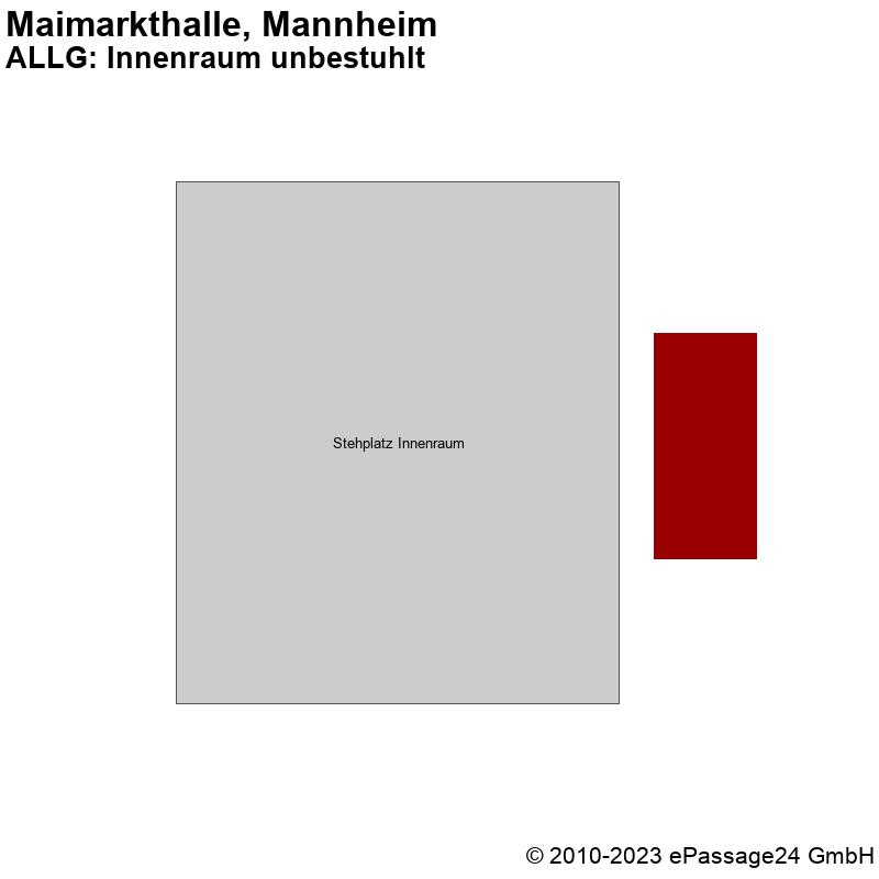 Saalplan Maimarkthalle, Mannheim, Deutschland, ALLG: Innenraum unbestuhlt