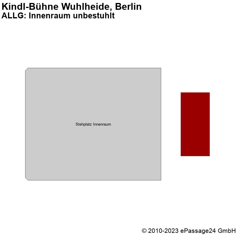 Saalplan Kindl-Bühne Wuhlheide, Berlin, Deutschland, ALLG: Innenraum unbestuhlt
