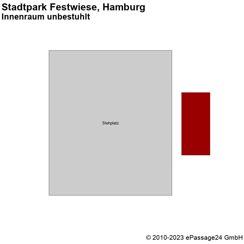 Saalplan Stadtpark Festwiese, Hamburg, Deutschland, Innenraum unbestuhlt