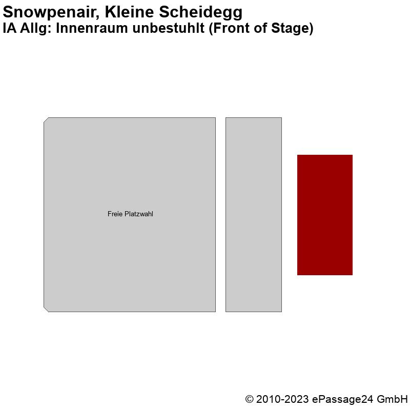 Saalplan Snowpenair, Kleine Scheidegg, Schweiz, IA Allg: Innenraum unbestuhlt (Front of Stage)