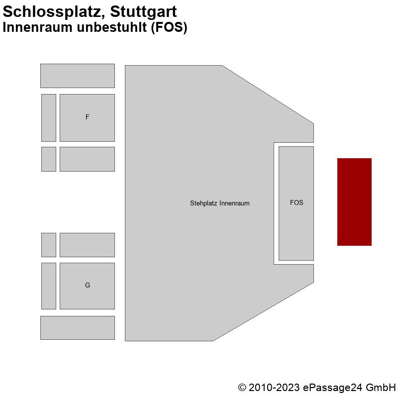 Saalplan Schlossplatz, Stuttgart, Deutschland, Innenraum unbestuhlt (FOS)