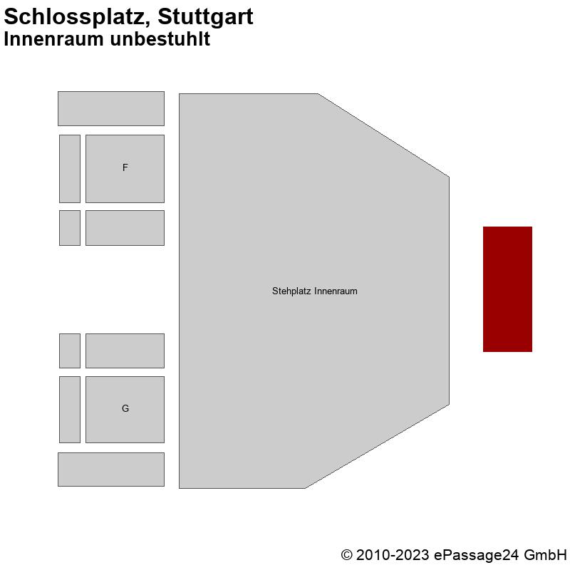 Saalplan Schlossplatz, Stuttgart, Deutschland, Innenraum unbestuhlt