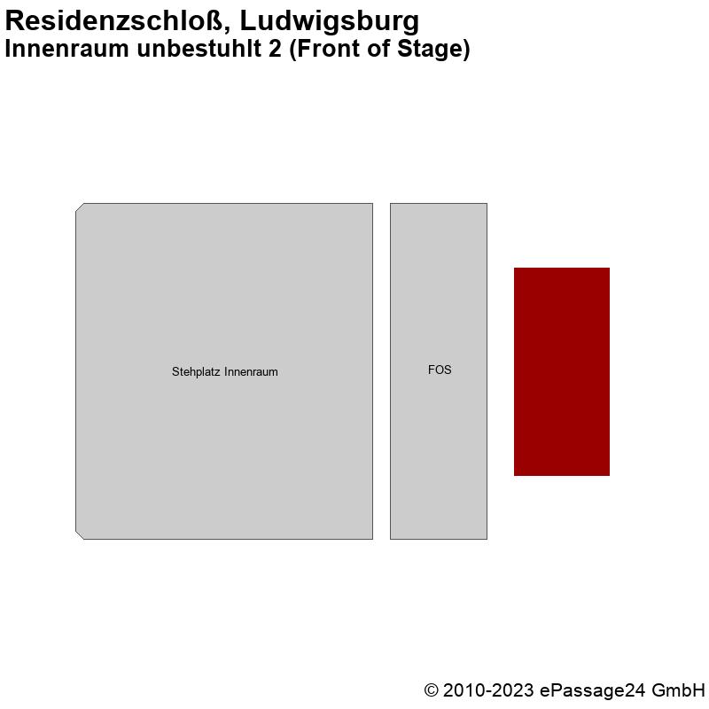 Saalplan Residenzschloß, Ludwigsburg, Deutschland, Innenraum unbestuhlt 2 (Front of Stage)