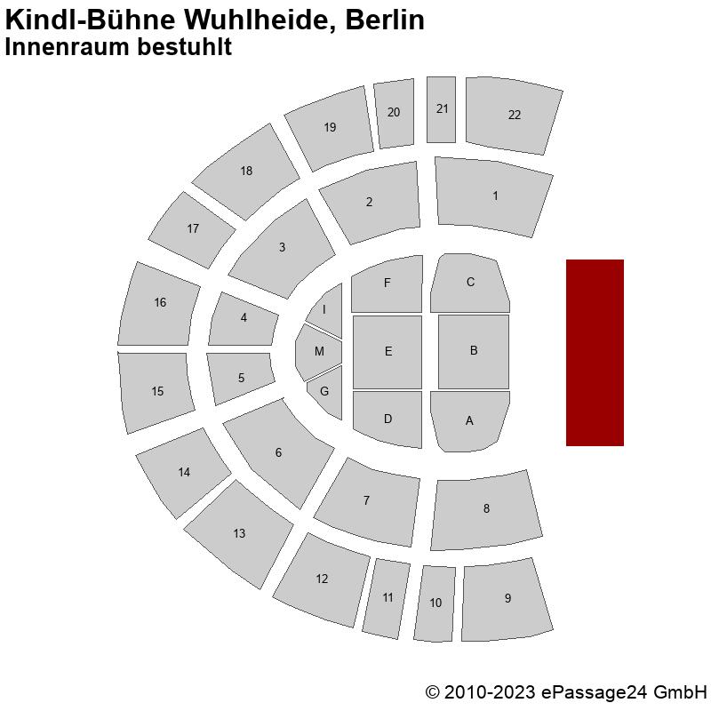 Saalplan Kindl-Bühne Wuhlheide, Berlin, Deutschland, Innenraum bestuhlt
