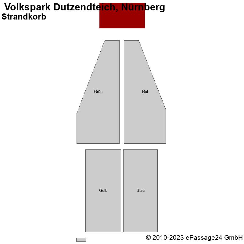 Saalplan  Volkspark Dutzendteich, Nürnberg, Deutschland, Strandkorb
