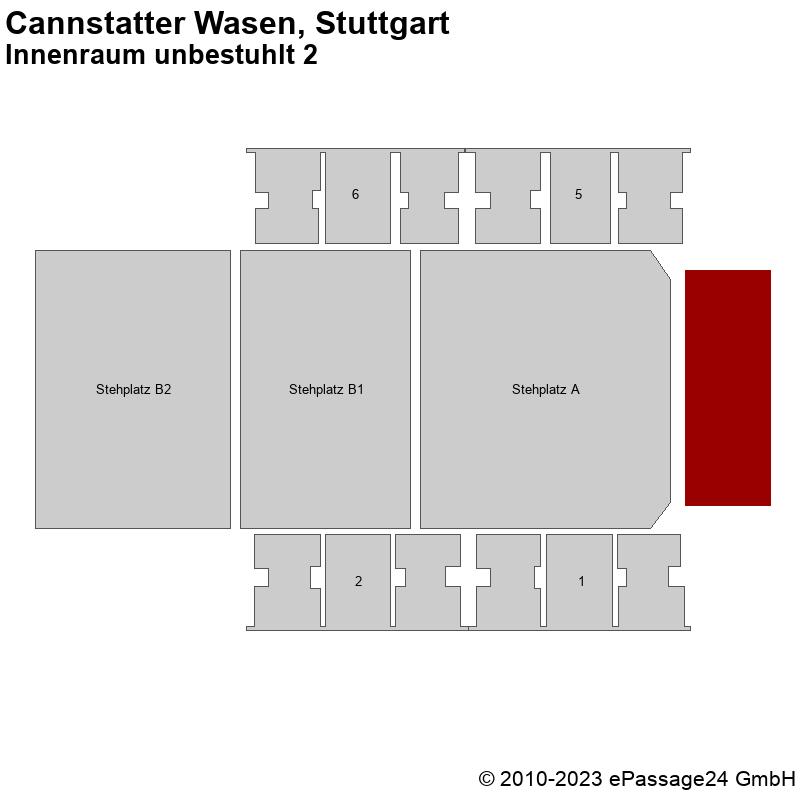 Saalplan Cannstatter Wasen, Stuttgart, Deutschland, Innenraum unbestuhlt 2