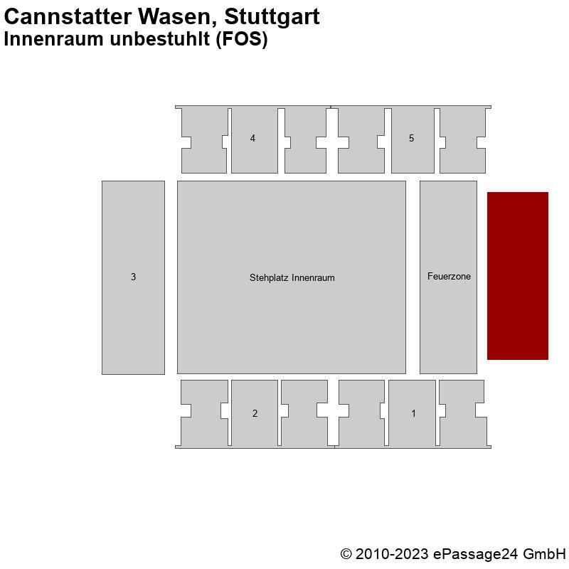 Saalplan Cannstatter Wasen, Stuttgart, Deutschland, Innenraum unbestuhlt (FOS)