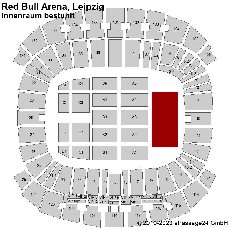 Saalplan Red Bull Arena, Leipzig, Deutschland, Innenraum bestuhlt