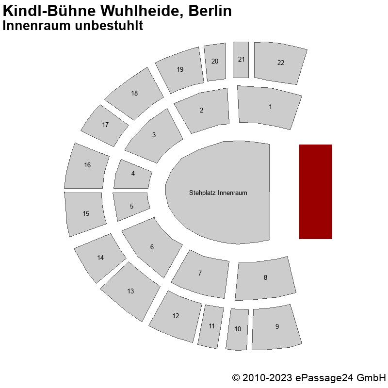 Saalplan Kindl-Bühne Wuhlheide, Berlin, Deutschland, Innenraum unbestuhlt