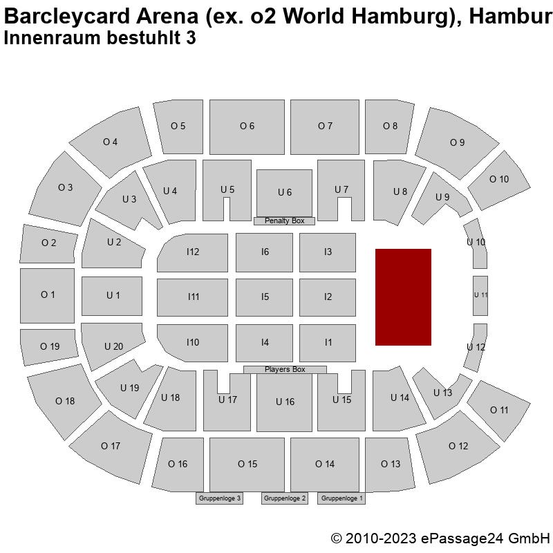 Saalplan Barcleycard Arena (ex. o2 World Hamburg), Hamburg, Deutschland, Innenraum bestuhlt 3