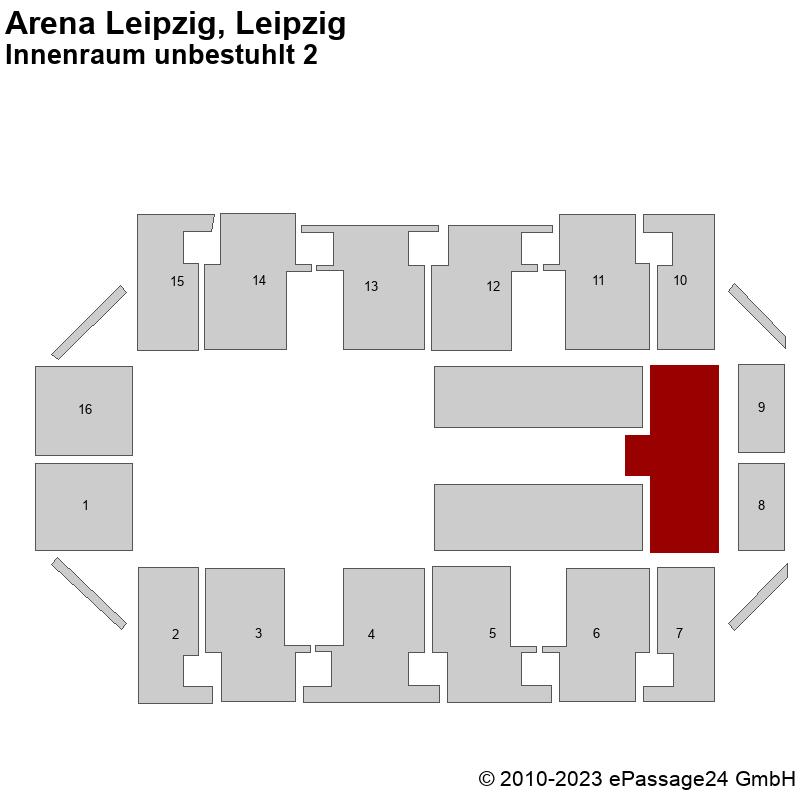 Saalplan Arena Leipzig, Leipzig, Deutschland, Innenraum unbestuhlt 2